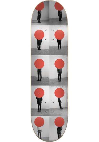 SOVRN Skateboard Decks Pedestrians red-grey vorderansicht 0262234