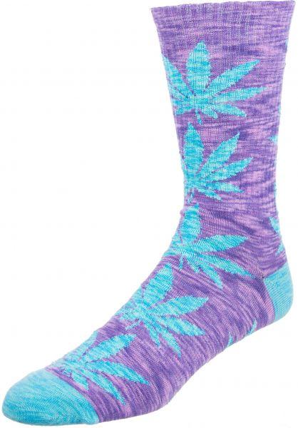 HUF Socken Plantlife Full Melange blueiris vorderansicht 0631759