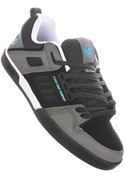 DVS Alle Schuhe Comanche 2.0+ black-charcoal-turquoise vorderansicht 0604619