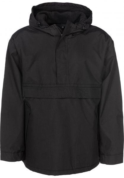 Carhartt WIP Windbreaker Visner Pullover black Vorderansicht