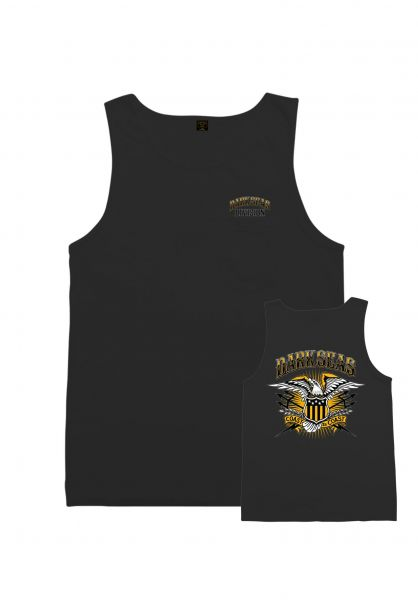 Dark Seas Tank-Tops Freedom Cry Pigment black vorderansicht 0137873