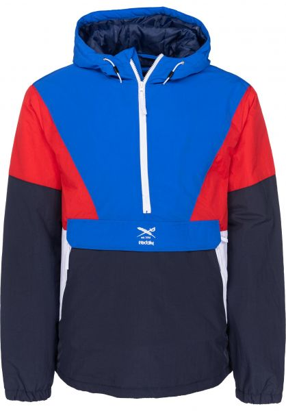 iriedaily Windbreaker Get Down Pull Up navy-red Vorderansicht