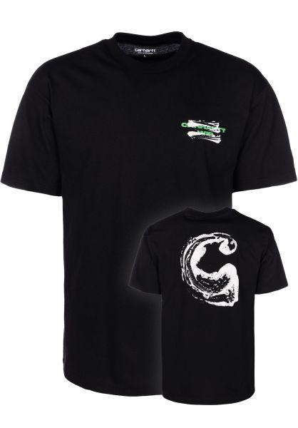 Carhartt WIP T-Shirts Foam C black vorderansicht 0399700
