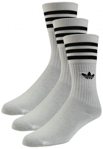 adidas Socken Solid Crew 3Pack white vorderansicht 0632057