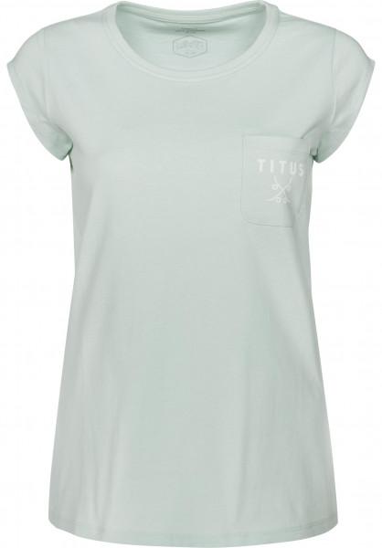 TITUS T-Shirts Delu pastell-mint Vorderansicht