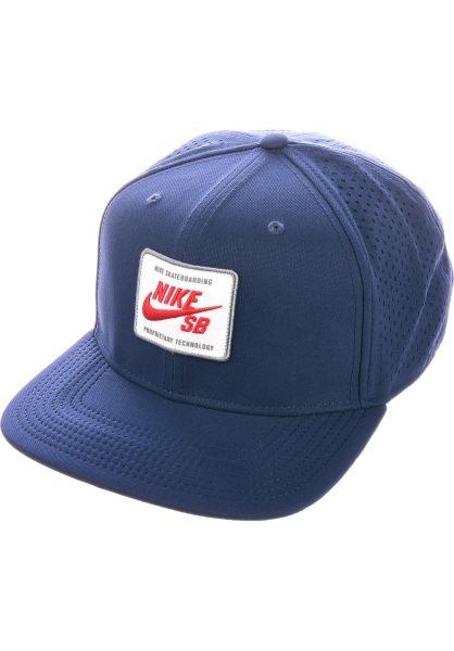 Nike SB Caps Aerobill Pro 2.0 midnightnavy-universityred vorderansicht 0566626
