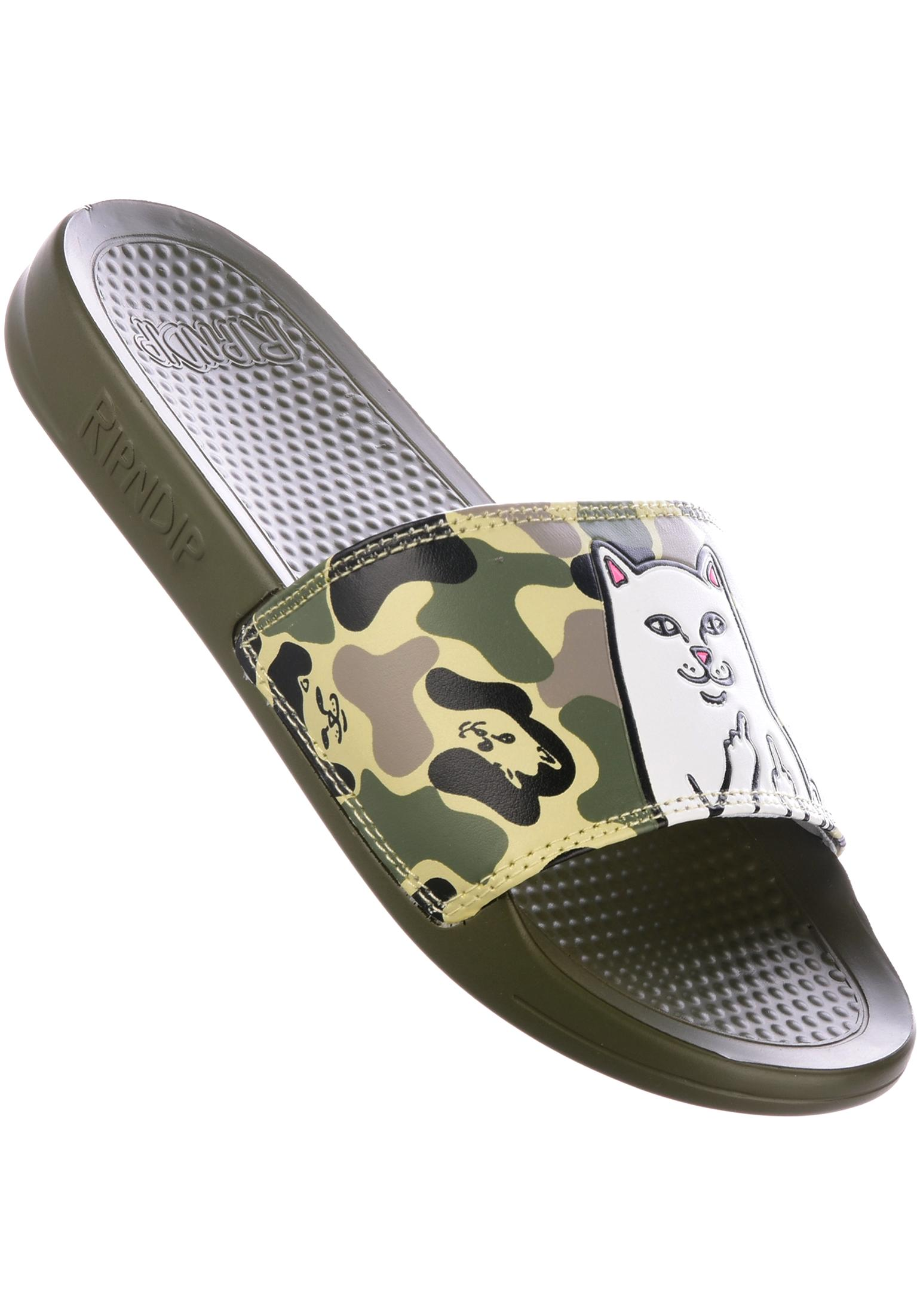 13635b36391ab Lord Nermal Slides Rip N Dip Sandals in army-camo for Men