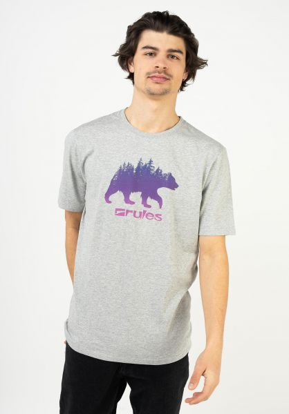 Rules T-Shirts Grizzly Woods heathergrey vorderansicht 0399359