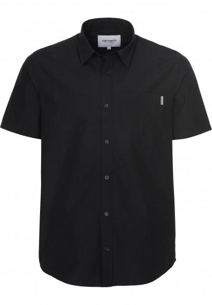 Carhartt WIP Hemden kurzarm Wesley black Vorderansicht