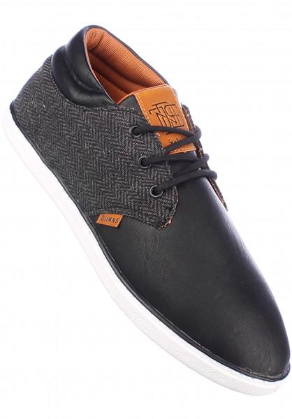 Djinns Alle Schuhe MidLau Harris Tweed black Vorderansicht