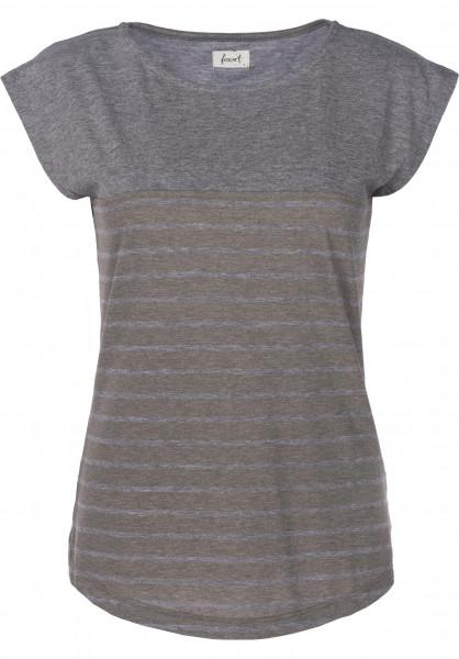 Forvert T-Shirts Newport olive-greymelange Vorderansicht