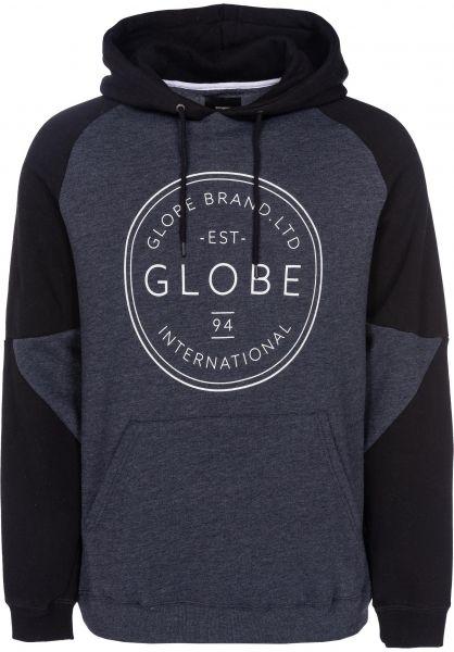 Globe Hoodies Winson granite-marle Vorderansicht
