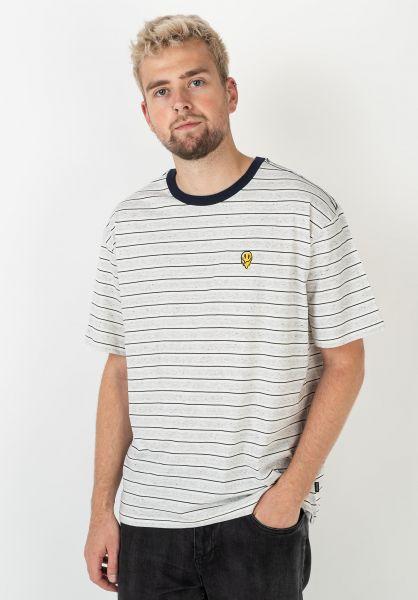 Brixton T-Shirts Hilt Melter offwhite-ash-washednavy vorderansicht 0322481
