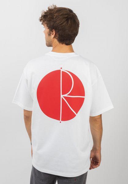 Polar Skate Co T-Shirts Fill Logo white-fieryred vorderansicht 0379771