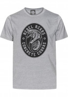 Rebel Rockers T-Shirts Cobra greyheather Vorderansicht