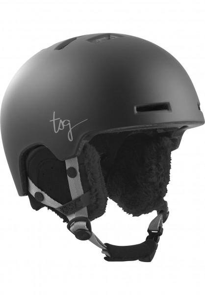 TSG Snowboardhelme Cosma Solid Color satin black Vorderansicht