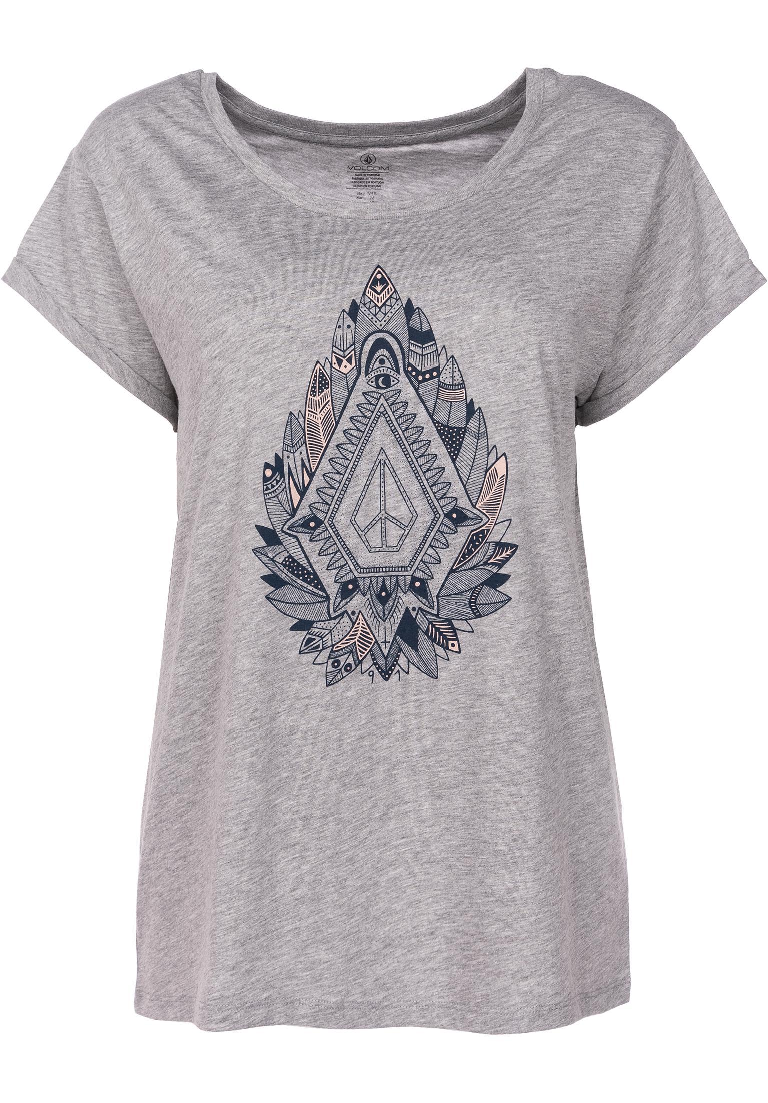 Radical Daze Volcom T-Shirts in heathergrey für Damen   Titus 5f58367ece