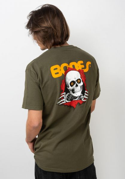 Powell-Peralta T-Shirts Ripper military-green vorderansicht 0363344