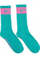 Welcome Socken Summon teal-pink Vorderansicht