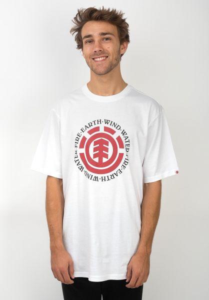 Element T-Shirts Seal opticwhite vorderansicht 0372580