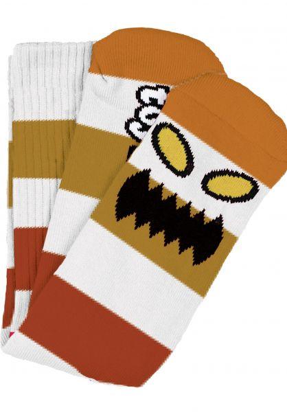 Toy-Machine Socken Monster Big Stripe brown vorderansicht 0631603
