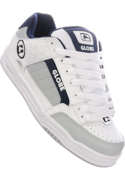 Globe Alle Schuhe Tilt white-grey-navy vorderansicht 0601279