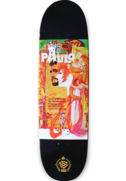 Stereo Skateboard Decks Paulo Diaz Camelot Shape black vorderansicht 0262131