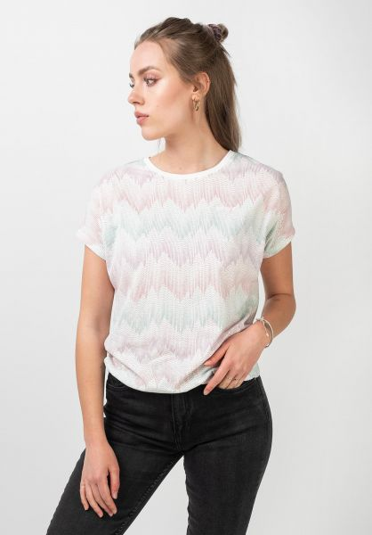 Mazine T-Shirts Celina white-allover vorderansicht 0322275