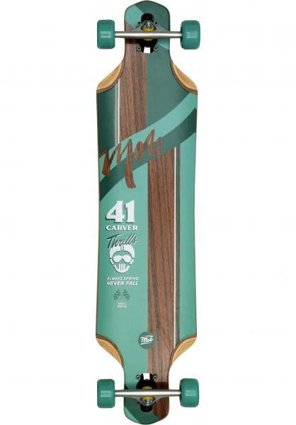 MOB-Skateboards Longboards komplett Thrills 41 Rosewood green Vorderansicht