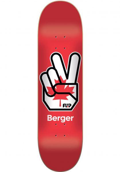 Flip Skateboard Decks Berger Liberty red Vorderansicht