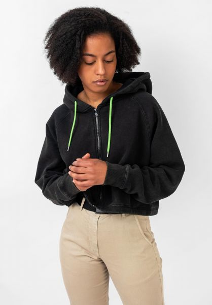 TITUS Zip-Hoodies Alice black-washed vorderansicht 0445309