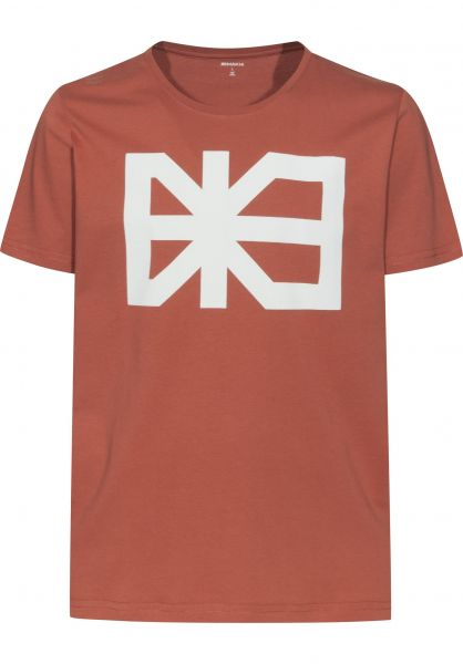 Makia T-Shirts Flag copper vorderansicht 0379132