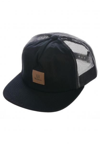 Brixton Caps Main Label black vorderansicht 0566342