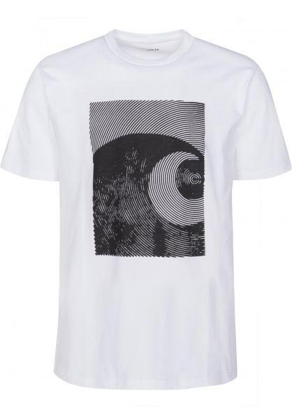 Carhartt WIP T-Shirts Circles white-black Vorderansicht
