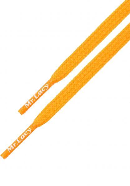 Mr. Lacy Schnürsenkel Goalies bright-orange vorderansicht 0640027