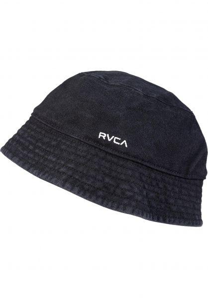 RVCA Hüte Drop in the Bucket washedblack vorderansicht 0580434