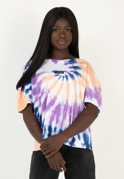 Hurley T-Shirts One And Only Tie Dye white vorderansicht 0323015