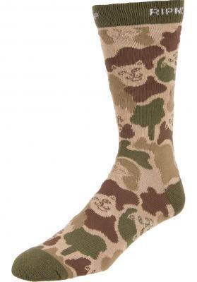 Rip N Dip Nerm Camo Socks