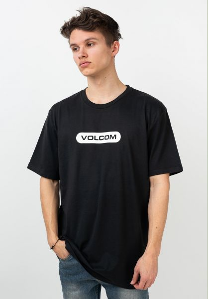 Volcom T-Shirts New Euro black vorderansicht 0321573
