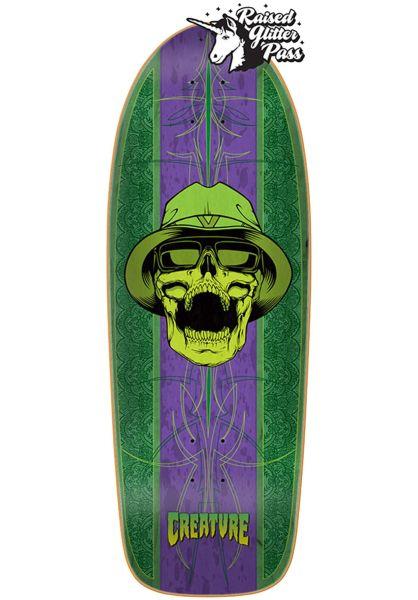 Creature Skateboard Decks CT Cruiser green-purple vorderansicht 0262913