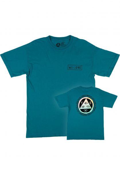 Welcome T-Shirts Latin Tali 2 Garment-Dyed Tee topaz - prism vorderansicht 0322813