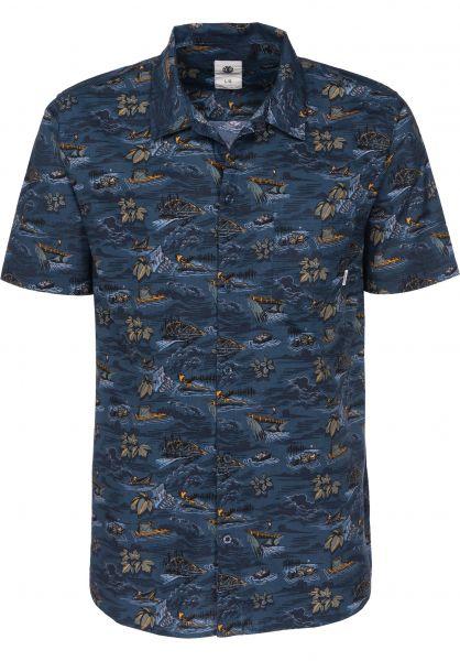 Element Hemden kurzarm Wendel riverratsblue Vorderansicht