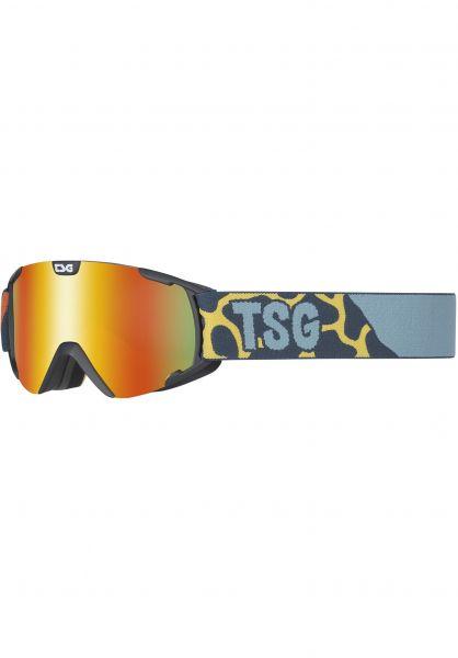 TSG Snowboard-Brille Goggle Expect Mini safari-red chrome Vorderansicht