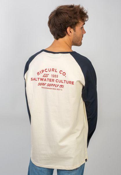Rip Curl Longsleeves Surf Supply Co. darkblue vorderansicht 0383494