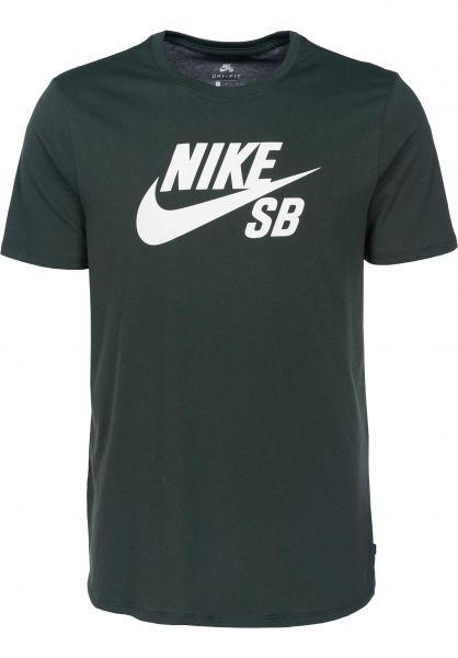 Nike SB T-Shirts DFT Icon Logo midnightgreen vorderansicht 0394809