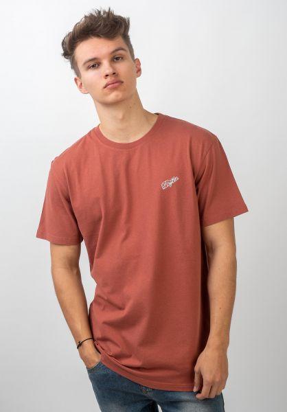 Rhythm T-Shirts Script berry vorderansicht 0320638