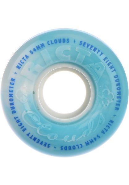 Ricta Rollen Clouds Swirl 78A teal vorderansicht 0134221