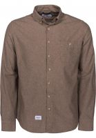 Reell-Hemden-langarm-Brushed-Shirt-brown-Vorderansicht