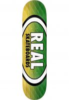 Real Skateboard Decks Parallel Fade Oval yellow-green Vorderansicht