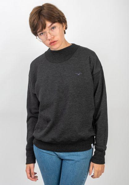 Cleptomanicx Sweatshirts und Pullover Bi Color phantomblack vorderansicht 0422712